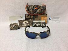 66576fca72 NEW Costa Del Mar Fantail Polarized Sunglasses Mossy Oak Camo Blue 580P TF  65
