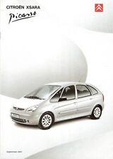 Prospetto/brochure CITROEN XSARA PICASSO 09/2001