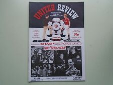 1982 Manchester United v Everton Programme. 12th March.