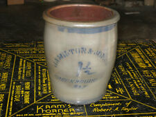 Stoneware Crock 1 1/2 Gallon Crock Hamilton & Jones Greensboro