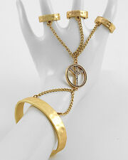NEW Peace Hand Chain Cuff Style Hand Bracelet w/ 3 Finger Stretch Ring
