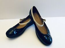 FF2 Fitflop Mary Jane F-POP Shoes Black & White Patent Leather 38 7 Worn Once