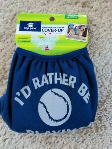 TOP PAW Dog diaper cover-up Large 45-90 lbs Washable  BLUE NWT