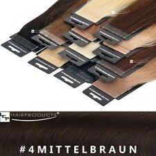 Kurze glatte Echthaar-Perücken & Haarteile in Mittelbraun Kunst