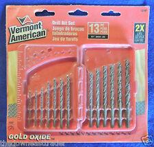 13pc Gold Oxide Drill Bit Set Vermont American Robert Bosch #12187 Speed Helix