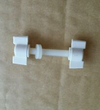 METAL DETECTING SEARCH COIL REPLACEMENT NYLON BOLT WHITE SIZE M6