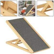 Freestanding Dog Ramp Pet Puppy Ramp Adjustable Heights Non-Slip Carpet Stair UK