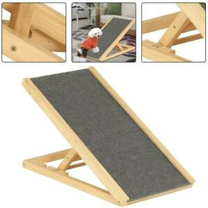 Freestanding Dog Ramp Pet Puppy Ramp Adjustable Heights Non-Slip Carpet Stair UK