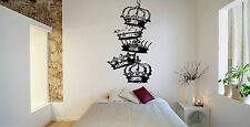 Wall Room Decor Art Vinyl Sticker Mural Decal Crown King Power Cool Prince FI416