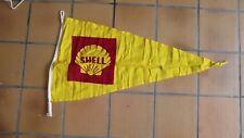 rare ancien grand fanion drapeau SHELL station service DECO garage huile MOTEUR