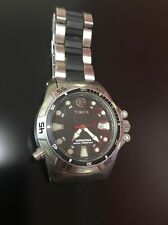 Timex Expedition WR200M Men's Watch Shock Resistant 2 Tone Band Rare Find