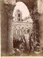 Alinari, Sicilia, Palermo, chiesa di San Giovanni Vintage albumen print Tirage