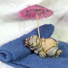 Harmony Kingdom Art Neil Eyre Designs Sun Bath Bathing Baby Hippo Hippopotamus