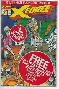 X-Force #1 Marvel Comics 1991 Sealed with Cards VF+