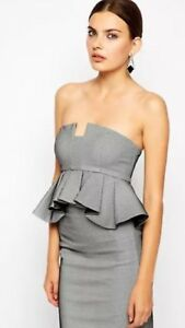 Brand New Bardot Bandeu Bustier Strapless Top size 8 Black and White