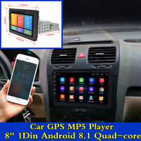 """Android 8.1 GPS Navigation 8"""" 1Din Quad-Core Car Stereo Radio Audio MP5 Player"""
