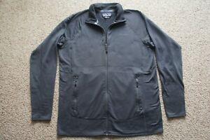Patagonia Men's Charcoal Gray R1 Full Zip Polartec Waffle Fleece Jacket XL