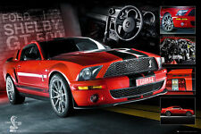 FORD MUSTANG SHELBY GT500 COBRA POSTER / PRINT (EASTON CHANG CARS)