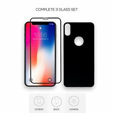 5 Pack - Glass iPhone X XS Front and Back 9H Tempered Glass Screen Protector