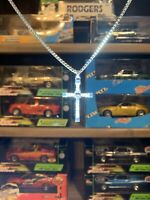 The Fast And Furious 1:1 Silver Cross Necklace Vin Diesel Dom Toretto 1:18 1:24