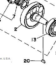 Woodruff Teclas De Yamaha RD400 RD350 RD250 DS7 R5 TZ350 TZ250 clave de rotor del cigüeñal
