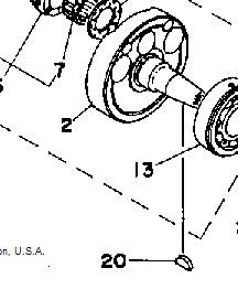 YAMAHA WOODRUFF KEY RD400 RD350 RD250 DS7 R5 TZ350 TZ250 crankshaft rotor key
