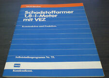 VW Golf II GTI  Audi 80 Typ 81 85 Quattro Schadstoffarm  Motor VEZ SSP 75