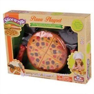 Kids Toy PIZZA CUT & PLAY Game Simulation Kitchen Food & Slicer Set 3+Years BNIB