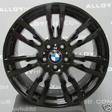 "GENUINE BMW 3/4 SERIES 19"" INCH BLACK 403M SPORT ALLOY WHEELS X4 F30/31/32/33/36"