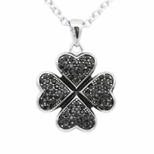 SWEET FOUR LEAF NECKLACE WITH BLACK Cubic zirconia By Controse