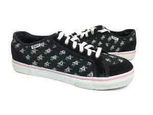 Vans Skate Shoes Floral Suede Women Low-Top Women's 10