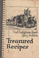 Vintage First Presbyterian Church Treasured Recipes Gary Indiana 1948 Spiral