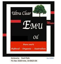 ULTRA CLEAR EMU OIL 100% PURE ORGANIC NATURAL 16 OZ  Australian. Magic Refined