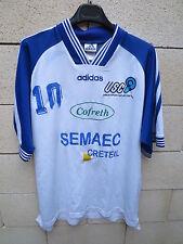 Maillot handball porté n°10 US CRETEIL ADIDAS match worn shirt blanc XL