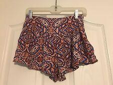 En Creme Women's Multicolor Casual  Shorts Hot Pants SZ S side zipper