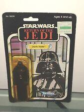"""'83  MOC  Star Wars DARTH VADER ROTJ  #38230 Kenner 4""""  Figure 77 Card Back"""
