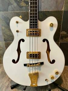 Gorgeous Mint+ Superbly Crafted Gretsch G6136LSB White Falcon Bass OHSC (293)