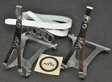 Vintage NOS Ale Torino Sport Toe Clips Italy w/ Schwinn Bicycle Leather Straps