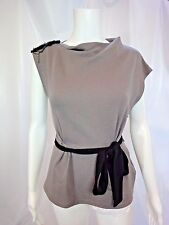 EVA FRANCO Belted Top with Beaded Detail Size 2