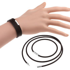 New Korean Style Unisex Leather Stainless Steel Buckle Bnagle Couple's Bracelet
