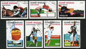 Guinea-Bissau 719-725, CTO. Olympics, Seoul, 1988