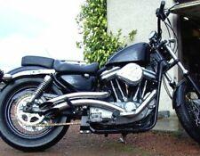 Chrome 2 Curvado Exhaust Big Radius Style Drag Pipes Set 86 03 Harley Sportster