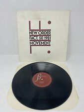New Order FACT 50 MOVEMENT 1981 Factory Record rare US brown label B Music LP NM