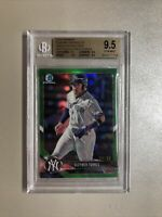 Gleyber Torres BGS 9.5 Gem Mint 2018 Bowman Chrome Rookie Green Refractor #/99