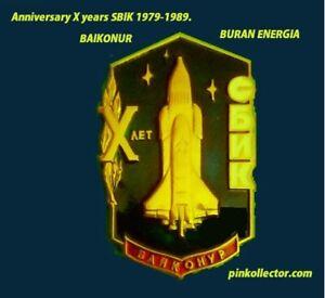 Vintage 1989 Soviet Buran Space Shuttle rare Badge pinback.IN07.ERAR.