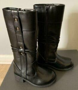 Kenneth Cole Boots Girls Tall Black Dress Boots NIB Little Girls Size 9