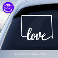 """Colorado State """"Love"""" Decal, CO Vinyl Sticker, Add a heart over your fav city!"""