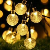 50 Solar Powered LED String Light Garden Path Yard Decor Lamp Outdoor Waterproof