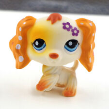 Littlest Pet Shop LPS Dachshund Dog Purple Flower Puppy Toys 1615 Eyes Kids Gift