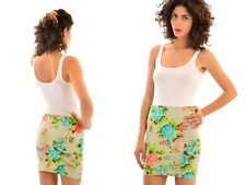 LADIES WOMENS FLORAL BODYCON FITTED CHRISTMAS  HOLIDAY CASUAL  MINI SKIRT  F3